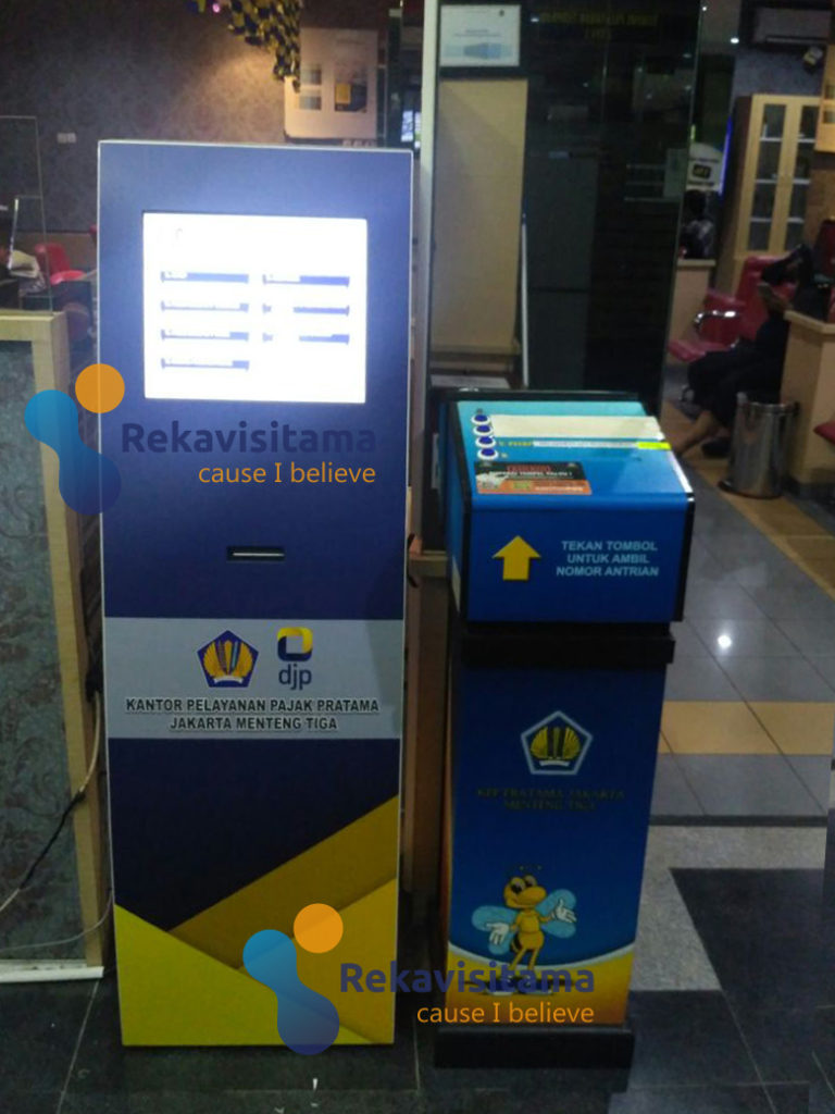 mesin antrian kantor pajak-mesin antrian touchscreen