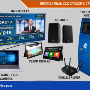 CCQ Cyosce & CRI Andoid-mesin antrian android