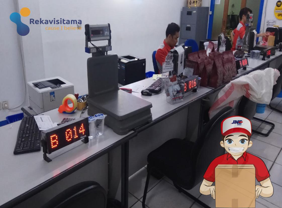 mesin antrian jne